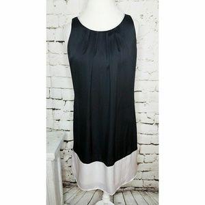 Dana Buchman black & White Shift Dress sz Md